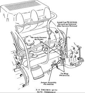 plymouth acclaim solenoid installation transmission problem labor manual shows about 2 hours to replace it but i can t any instructions on it it has a note that says includes removing the pan