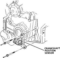 Crank on 1999 Buick Lesabre Engine