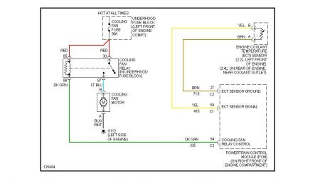 2000 corvette cooling fan relay wiring diagram separate sensor for the fan relay: there is a separate ... 2000 cavalier cooling fan relay wiring diagram