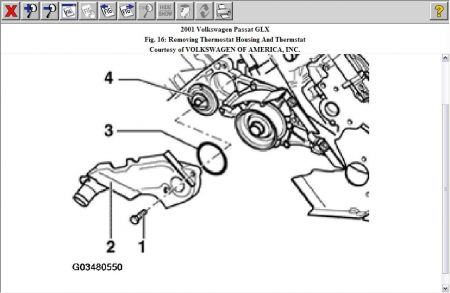 2003 Vw Jetta Thermostat Location