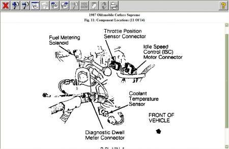 Power Steering Problems >> 1987 Other Oldsmobile Models Engine Heat Sensor: Engine Cooling ...