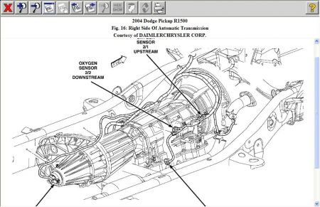 Dodge Ram 2004 Dodge Ram O2 Sensor Location on dodge durango wiring harness diagram