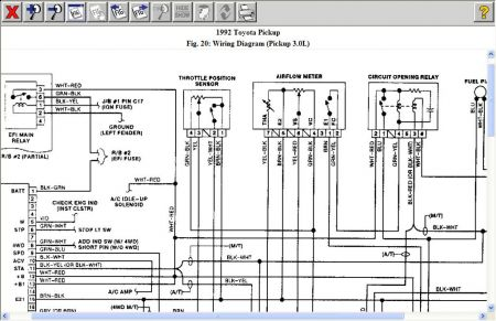 12900_EFI_1 1992 toyota pickup fuel pump operation electrical problem 1992 91 toyota pickup wiring diagram at panicattacktreatment.co
