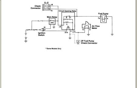 1992 Toyota Pickup Wiring Diagram: 1992 Toyota Pickup Fuel Pump Operation: Electrical Problem 1992 ,Design