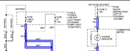 A on 2000 Infiniti G20 Fuse Box Diagram