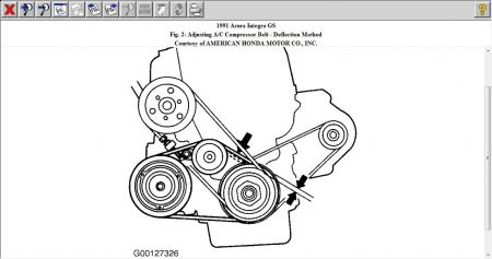 1999 acura integra engine diagram 1991 acura integra belt routing diagram air conditioning problem see below