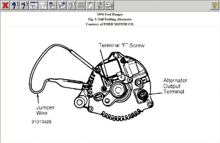 12900_alty_25 1994 ford ranger ford ranger burning up starters and will n 1988 ford ranger alternator wiring diagram at crackthecode.co