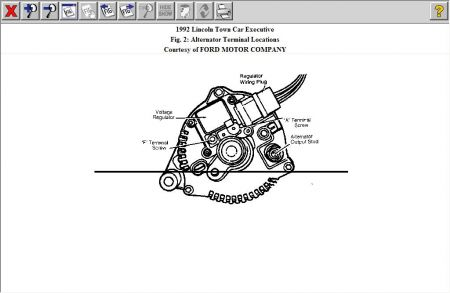 alternator wiring diagram for 1989 lincoln alternator wiring diagram for 96 lincoln town
