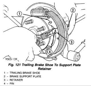 rear shoe replacement: brakes problem 1998 plymouth breeze ... plymouth brakes diagram #5