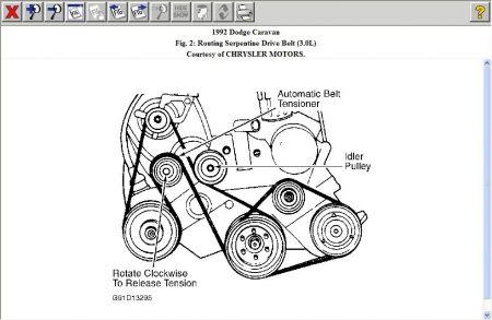 Belt on Dodge Caravan Belt Diagram