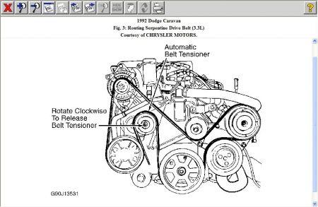 92 dodge caravan belt diagram find image