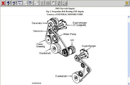 serpentine belt diagram please i have the ss model with a 5 3 2006 Chrysler Pacifica Belt Diagram www 2carpros com forum automotive_pictures 12900_belt_2
