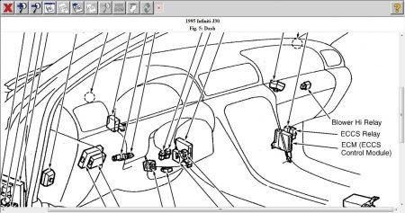 1995 Infiniti J30 Location Of Blower Motor Relay
