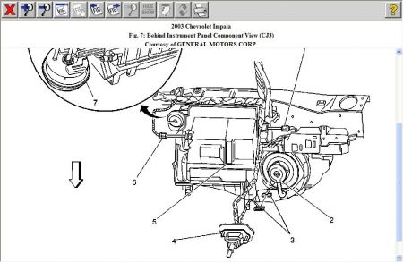 2003 chevy impala schematic of blower motor resistor locati rh 2carpros com