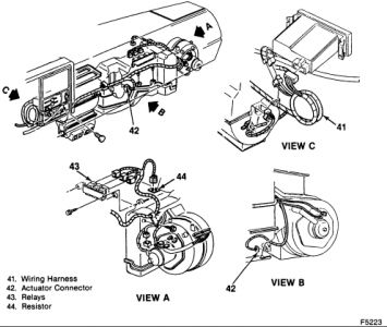 Chevrolet Truck 1991 Chevy Truck Blower Motor Resistor on ignition to coil wiring diagram