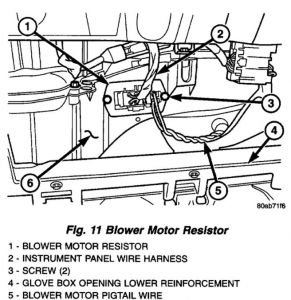 Plymouth voyager blower motor resistor location plymouth for 2003 dodge ram blower motor fuse