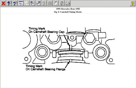 1990 mercedes benz 190e timing mark two marks in camshaft bearing rh 2carpros com Cyclone Cleaner Diagram Cyclone Cleaner Diagram