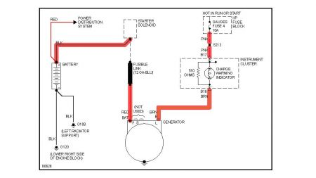 Where Do I Put The 3rd Wire On My 1 Wire Alternator likewise Kawasaki 454 Ltd En450 Headlight System Circuit Wiring Diagram besides 89 Chevy Camaro Wiring Diagram as well Chevrolet 283 Ignition Wiring Diagram furthermore Delco Remy Alternator Wiring Diagram. on gm 1 wire alternator diagram