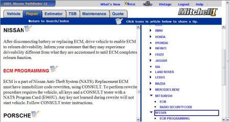2001 Nissan Pathfinder Computer Relearn Procedure: Need Help on