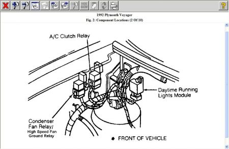 92 Lebaron Fuel Pump Location as well Bodydiagram05caravan furthermore 96 Ford Ranger Camshaft Sensor Location together with 2005 Jeep Grand Cherokee Engine Diagram in addition Radiator Fan Clutch. on 94 plymouth voyager wiring diagram