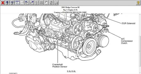 2001 Dodge Ram Crank Sensor Location