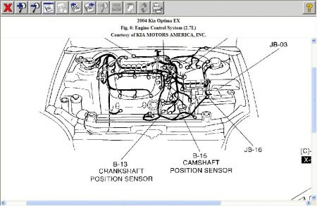 Kia Optima 2004 Kia Optima Crankshaft Position Sensor on honda 2 4 knock sensor location