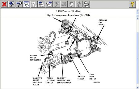 1988 pontiac firebird location of cooling fan temp switch rh 2carpros com 1991 Trans AM 1988 trans am fuse box diagram