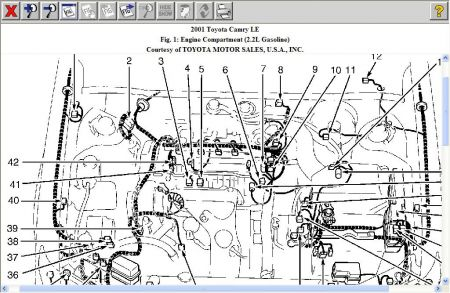 Tor Toyota Camry 1998 Engine Diagram on 2002 camry serpentine belt