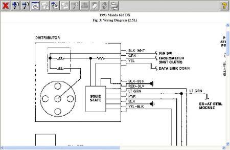 mazda distributor wiring diagram  wiring diagram power