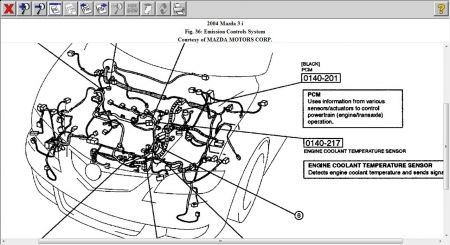 Mazda 3 2004 Mazda 3 Ect Sensor on 2007 Dodge Charger Engine Diagram 2carpros Questions
