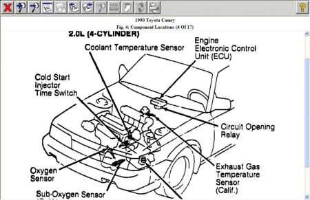 1990 Toyota Camry Engine Diagram Schematic Diagrams