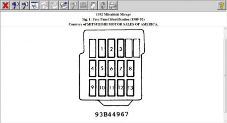 94 mitsubishi mirage fuse box mitsubishi mirage fuse box diagram