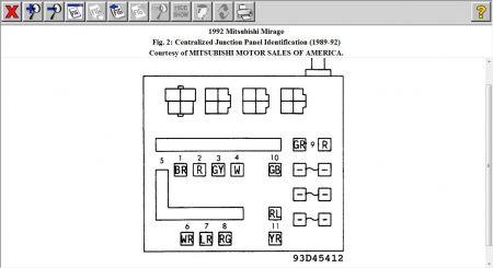 1992 Mitsubishi Mirage FUSE BOX: Electrical Problem 1992 ... on