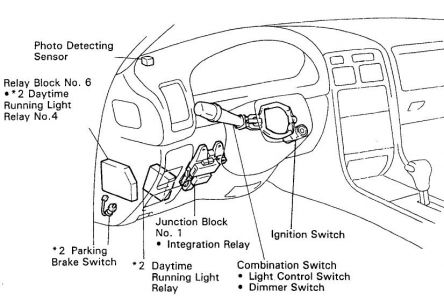 2004 Toyota Sienna Ac Clutch Relay Location also 2003 Daewoo Matiz Euro Iii Engine Parts  partment Diagram in addition Heating Ac together with Daewoo Espero Audio Stereo Wiring System moreover Starter Location On 2006 Pt Cruiser. on 2002 lexus es300 fuse box location