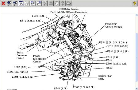 12900_fan_relay_3 2000 dodge caravan cooling fan relay 2000 dodge caravan 4 cyl two 96 Chevy Lumina Engine Diagram at n-0.co