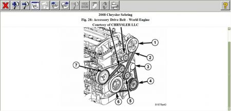 Fbelt on 2002 Chrysler Sebring Engine Diagram