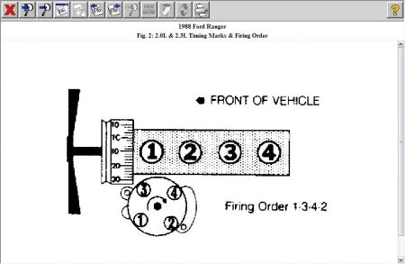 Firing Order And Timing Marks Ford Ranger on 1988 Ford Ranger 2 3 Timing Marks