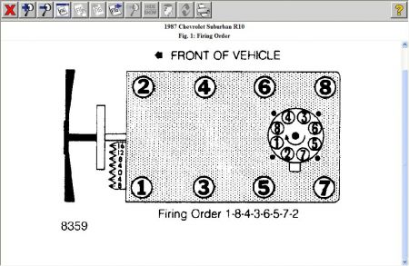 1987 chevy suburban firing order i need to know the firing order rh 2carpros com 1986 Chevy 350 Engine Diagram 1985 Chevy 350 Engine Diagram
