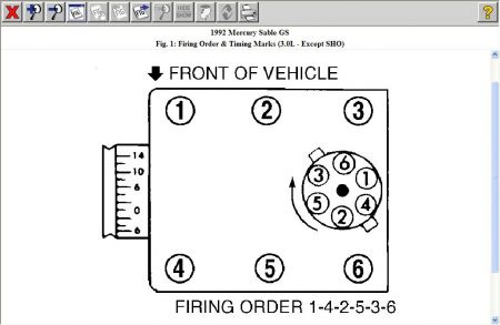 1992 mercury sable engine firing order what is the order and  1999 mercury sable firing order diagram #5
