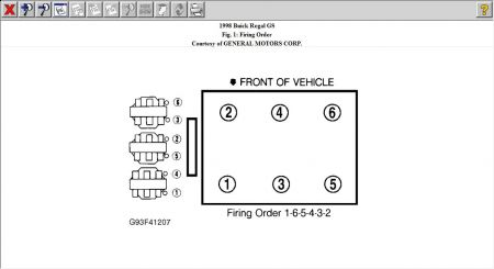Firing Order: What Is the Proper Firing Order for the 3.8 Liter V6 | 1998 Buick Lesabre Spark Plug Wire Diagram |  | 2CarPros