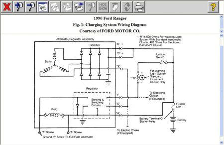 1990 Ford Ranger Charging System: After Replacing the Alternator ...
