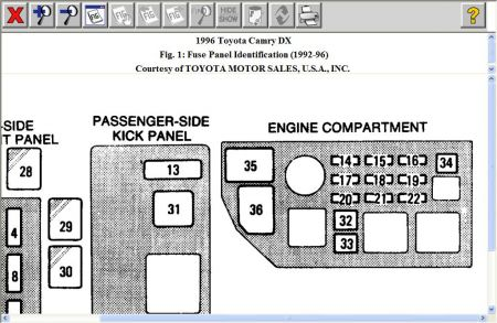 1996 toyota camry fuse diagram 1996 toyota camry: i was connecting a new cd player and a ...