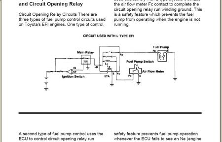 1985 toyota 4runner fuel pump won t run electrical problem 1985 do this block open the flap inside the airflow meter do you have power no power test the circuit opening relay and also check the efi fuse