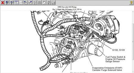1998 chevy s 10 fuel pump oil pressure switch rh 2carpros com 98 chevy s10 2.2 engine diagram 1998 Chevy S10 Parts Diagram