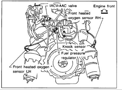 2000 nissan frontier 00 frontier fuel regulator  engine