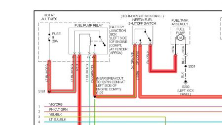 Fuel Pump on Ford Explorer Fuel Pump Wiring Diagram