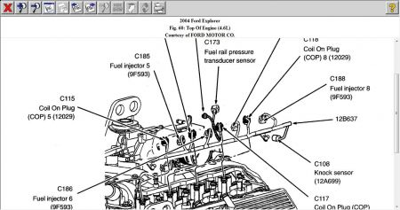 fuel rail pressure sensor six cylinder four wheel drive automatic rh 2carpros com Fuel Injection System Diagram How a Car Works Diagram