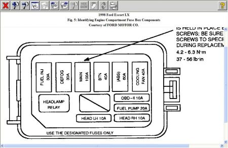 12900_fuse3_1 1998 ford escort fuse box electrical problem 1998 ford escort wiring diagram ford escort 1991 at bakdesigns.co