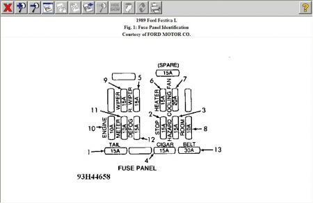 Ford Festiva Fuse Box on 01 ford taurus fuse box diagram