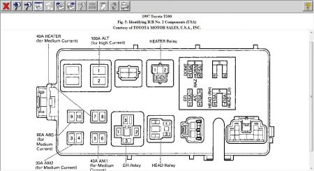 1979 toyota pickup truck 2wd electrical wiring diagram original